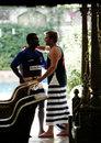 Dinesh Salunkhe and Shane Warne greet each other,  Mumbai, June 2, 2008