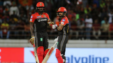 Virat Kohli and Chris Gayle got the visitors off to a solid start