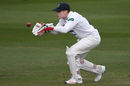 Sussex wicketkeeper Ben Brown collects a ball, Sussex v Kent, Specsavers Championship Division Two, Hove, April 14-17, 2017