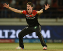 Adam Milne appeals for the wicket of Brendon McCullum, Royal Challengers Bangalore v Gujarat Lions, Rajkot, IPL 2017, April 18, 2017