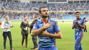 Nawroz Mangal pats his heart in a gesture to salute the fans, Afghanistan v Ireland, Desert T20, Final, Dubai, January 20, 2017