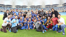 Afghanistan poses for a team photo with the tournament championship trophy, Afghanistan v Ireland, Desert T20, Final, Dubai, January 20, 2017