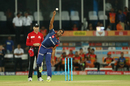 Jayant Yadav in his delivery stride, Sunrisers Hyderabad v Delhi Daredevils, IPL 2017, Hyderabad, April 19, 2017