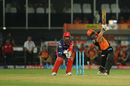 Kane Williamson carts one through the covers, Sunrisers Hyderabad v Delhi Daredevils, IPL 2017, Hyderabad, April 19, 2017