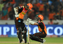 Shikhar Dhawan and Kane Williamson added 136 runs for the second wicket, Sunrisers Hyderabad v Delhi Daredevils, IPL 2017, Hyderabad, April 19, 2017