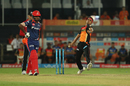 Siddarth Kaul in his delivery stride, Sunrisers Hyderabad v Delhi Daredevils, IPL 2017, Hyderabad, April 19, 2017