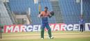 Junaid Siddique raises his bat after notching up his century, Abahani Limited v Brothers Union, Dhaka Premier League, Fatullah, April 20, 2017