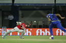Glenn Maxwell takes evasive action against a Jasprit Bumrah bouncer, Mumbai Indians v Kings XI Punjab, IPL 2017, Indore, April 20, 2017