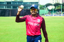 Al-Amin walks off the field after claiming a five-wicket haul, Prime Bank Cricket Club v Khelaghar Samaj Kallyan Samity, Dhaka Premier League 2017, Savar, April 18, 2017