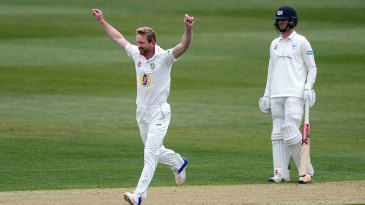 Paul Collingwood struck twice in an over