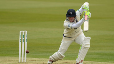 Sam Robson eases one through the covers