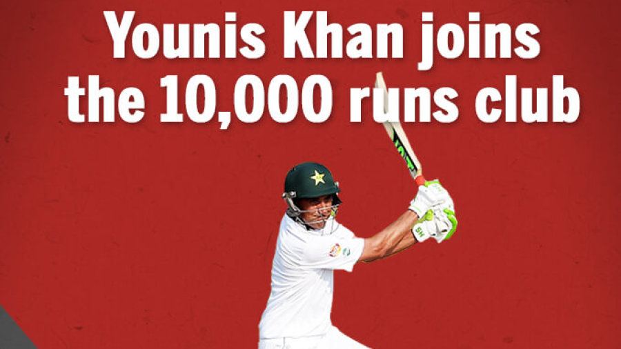 Younis Khan gets to 10,000 Test runs