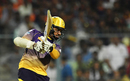 Sunil Narine clobbered nine fours and a six during his 42-run knock, Kolkata Knight Riders v Gujarat Lions, IPL 2017, Kolkata, April 21, 2017