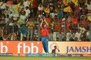 James Faulkner positions himself underneath the ball, Kolkata Knight Riders v Gujarat Lions, IPL 2017, Kolkata, April 21, 2017