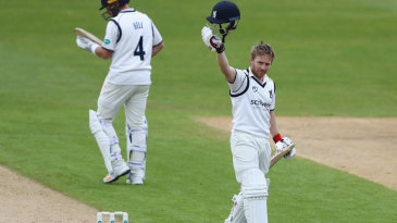 Ian Westwood acknowledges his hundred