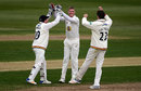 Keaton Jennings claimed two wickets in as many balls, Gloucestershire v Durham, County Championship, Division Two, Bristol, 1st day, April 21, 2017