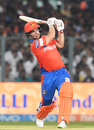 Aaron Finch launches one over long-on, Kolkata Knight Riders v Gujarat Lions, IPL 2017, Kolkata, April 21, 2017