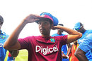 Vishaul Singh tries his Test cap on for size, West Indies v Pakistan, 1st Test, Jamaica, 1st day, April 21, 2017
