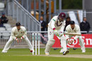 Dean Elgar anchored Somerset with an unbeaten half-century, Lancashire v Somerset, County Championship, Division One, Old Trafford, 1st day, April 21, 2017