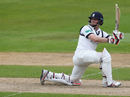 William Porterfield attempts to sweep, Warwickshire v Surrey, County Championship, Division One, Edgbaston, 1st day, April 21, 2017