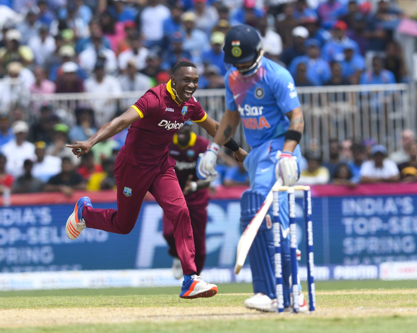The West Indies v India T20I in Florida had the joint-highest number of fluctuations of fortunes (according to this analysis)