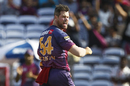 Dan Christian celebrates a wicket, Rising Pune Supergiant v Sunrisers Hyderabad, IPL 2017, Pune, April 22, 2017