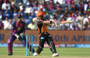 David Warner reverse-pulls for six, Rising Pune Supergiant v Sunrisers Hyderabad, IPL 2017, Pune, April 22, 2017