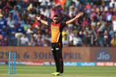 Bipul Sharma celebrates a wicket, Rising Pune Supergiant v Sunrisers Hyderabad, IPL 2017, Pune, April 22, 2017
