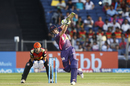 Steven Smith steps out and hits down the ground, Rising Pune Supergiant v Sunrisers Hyderabad, IPL 2017, Pune, April 22, 2017