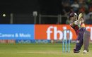 MS Dhoni slashes through the off side, Rising Pune Supergiant v Sunrisers Hyderabad, IPL 2017, Pune, April 22, 2017