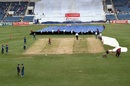 Rain kept the groundstaff busy, West Indies v Pakistan, 1st Test, Jamaica, 2nd day, April 22, 2017