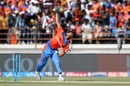 Legspinner Shubham Agarwal opened the bowling for Gujarat Lions, Gujarat Lions v Kings XI Punjab, IPL 2017, Rajkot, April 23, 2017