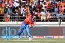 Legspinner Shubham Agarwal opened the bowling for Gujarat Lions, Gujarat Lions v Kings XI Punjab, IPL 2017, Rajkot, April 23, 2017