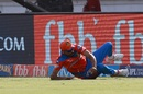 Ravindra Jadeja was quick in the outfield to stop a boundary, Gujarat Lions v Kings XI Punjab, IPL 2017, Rajkot, April 23, 2017