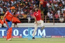 KC Cariappa took two consecutive wickets to derail Gujarat Lions' chase in the middle overs, Gujarat Lions v Kings XI Punjab, IPL 2017, Rajkot, April 23, 2017