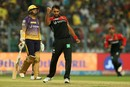 Stuart Binny had Sunil Narine caught in the deep, Kolkata Knight Riders v Royal Challengers Bangalore, IPL 2017, Kolkata, April 23, 2017