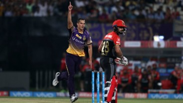 Nathan Coulter-Nile had Virat Kohli caught at slip in his first over