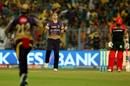 Chris Woakes chipped in with three wickets in two overs, Kolkata Knight Riders v Royal Challengers Bangalore, IPL 2017, Kolkata, April 23, 2017