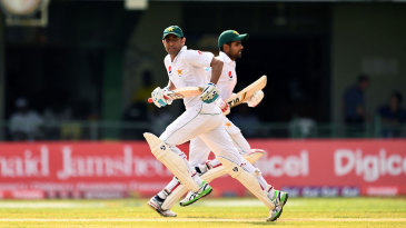 Younis Khan and Babar Azam added 129 for the third wicket