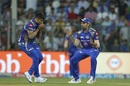 Karn Sharma gave Mumbai a breakthrough with a catch off his own bowling, Mumbai Indians v Rising Pune Supergiant, IPL 2017, Mumbai, April 24, 2017