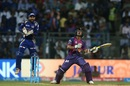 Ajinkya Rahane skied a catch back to the bowler, Mumbai Indians v Rising Pune Supergiant, IPL 2017, Mumbai, April 24, 2017