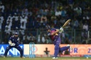 Steven Smith plays down the ground, Mumbai Indians v Rising Pune Supergiant, IPL 2017, Mumbai, April 24, 2017