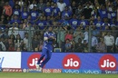 Kieron Pollard takes a catch to send back Rahul Tripathi, Mumbai Indians v Rising Pune Supergiant, IPL 2017, Mumbai, April 24, 2017