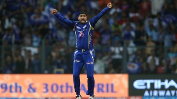 Harbhajan Singh snared his 200th T20 wicket when he bowled Steven Smith