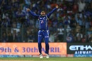 Harbhajan Singh snared his 200th T20 wicket when he bowled Steven Smith, Mumbai Indians v Rising Pune Supergiant, IPL 2017, Mumbai, April 24, 2017