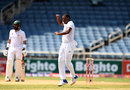 Shannon Gabriel broke through with the wicket of Asad Shafiq, West Indies v Pakistan, 1st Test, Jamaica, 4th day, April 24, 2017