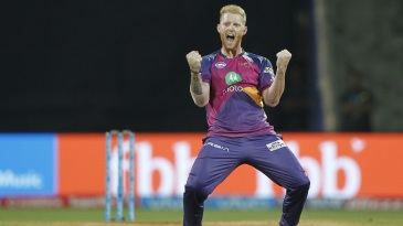 Ben Stokes is pumped up after taking out Jos Buttler