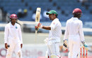 Sarfraz Ahmed raised his half-century during the morning session, West Indies v Pakistan, 1st Test, Jamaica, 4th day, April 24, 2017