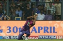 Jaydev Unadkat takes a catch to send back Nitish Rana, Mumbai Indians v Rising Pune Supergiant, IPL 2017, Mumbai, April 24, 2017