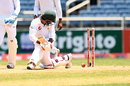 Sarfraz Ahmed was bowled round his legs, West Indies v Pakistan, 1st Test, Jamaica, 4th day, April 24, 2017